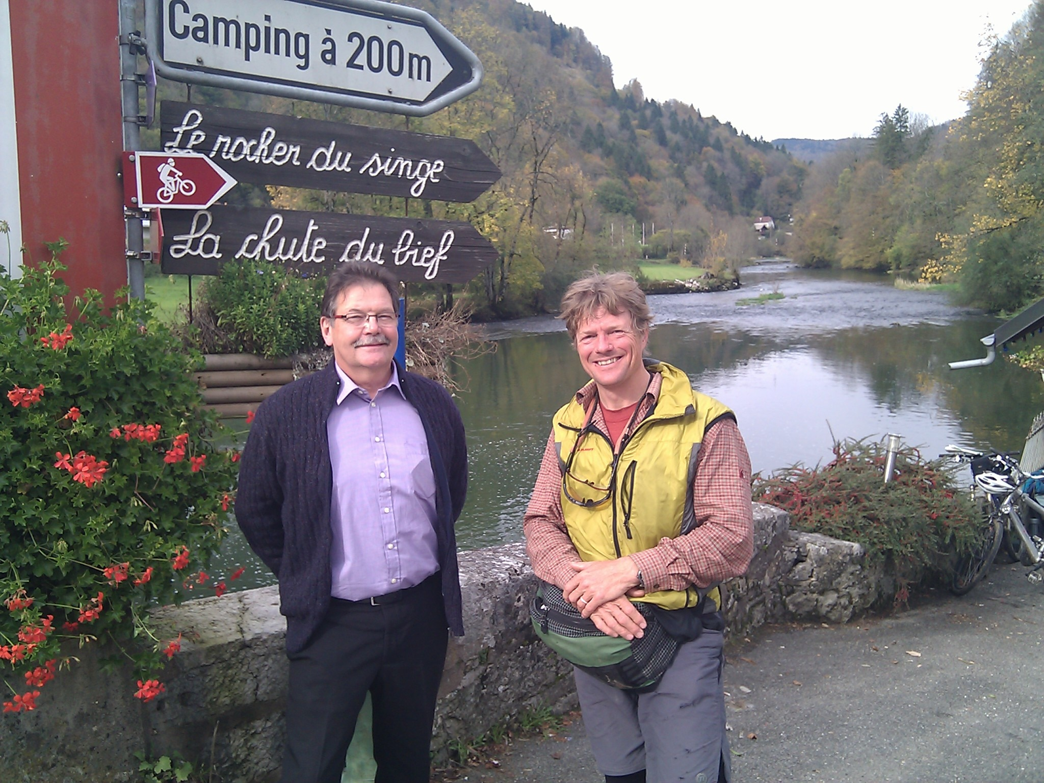 Gérard Cattin, the secretary general of the Association for the Parc Natural Régional du Doubs, with whom I visited over a trout lunch in Goumois.