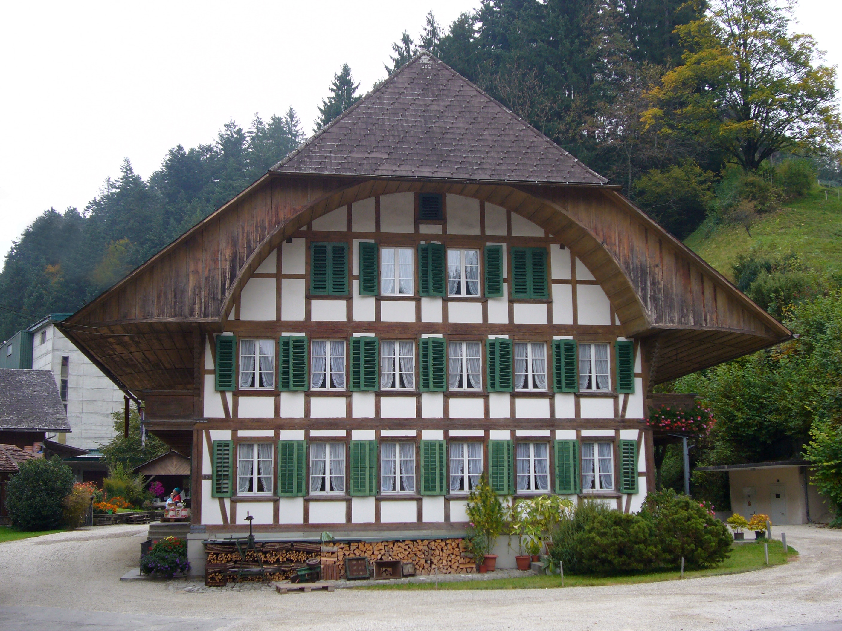 A typical Emmental house in the village of Trubschachen (Robert Brookes)