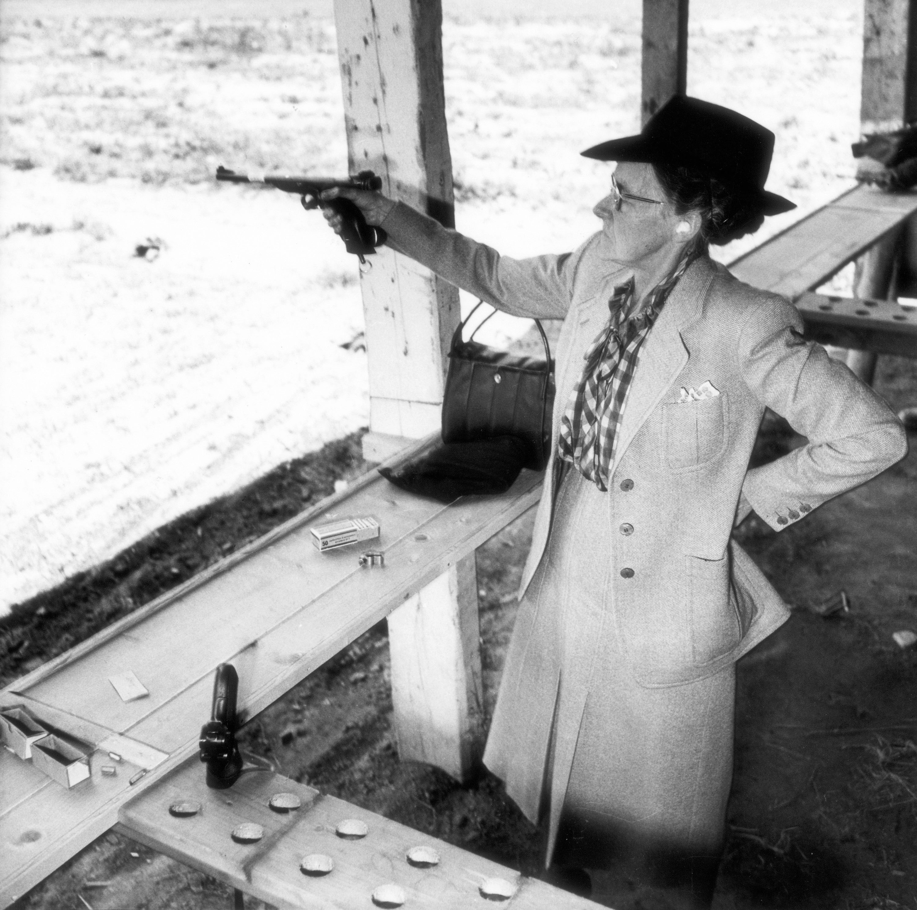 Gun lady at the federal shooting competition of 1949. (RDB)