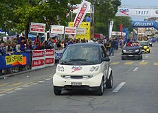 Sporting events attract thousands of car-driving spectators (Jungfrau Marathon)