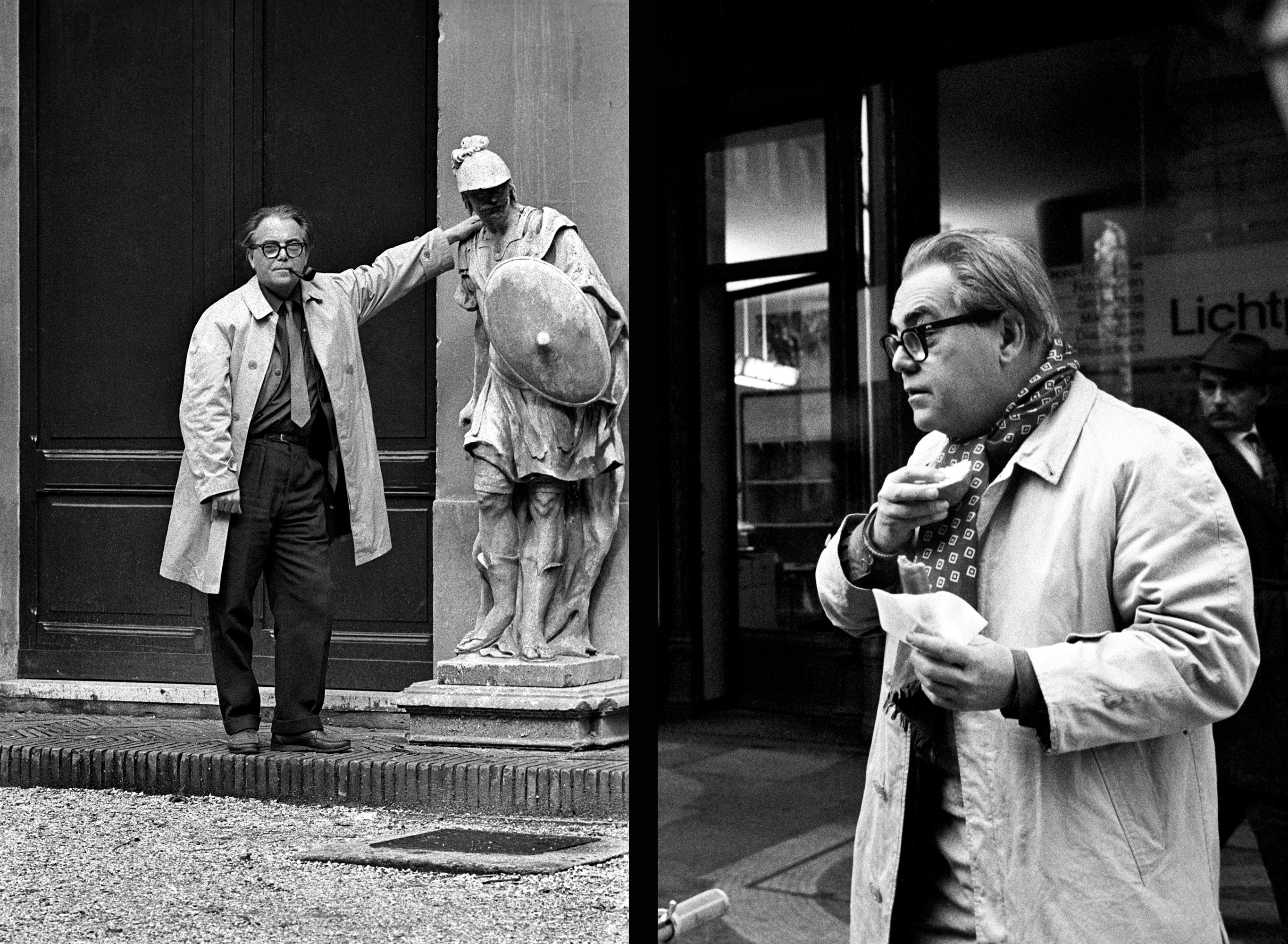The author in Rome (left) and in Zurich (right).