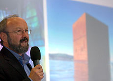The Monolith at Murten is a favourite of Expo's technical director, Ruedi Rast