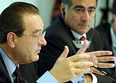 Credit Suisse bosses, Oswald Grübel (left) and John Mack breaking the bad news