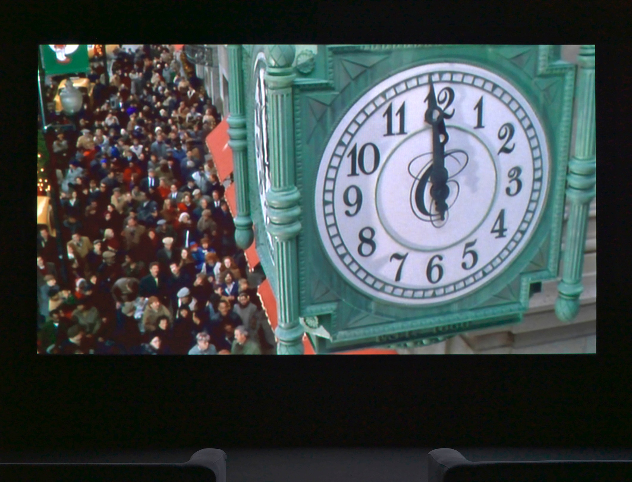 Christian Marclay, USA: The Clock, 2010, Edition of 6 Single-channel video. Duration: 24 hours  (Courtesy White Cube, London and Paula Cooper Gallery, New York)