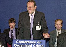 Javier Solana, the European Union's general secretary, said in London every country in the Balkans is blighted by organised crime
