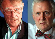 Winners and losers: Ingvar Kamprad (left) tops the list, while Martin Ebner is gone from the rankings