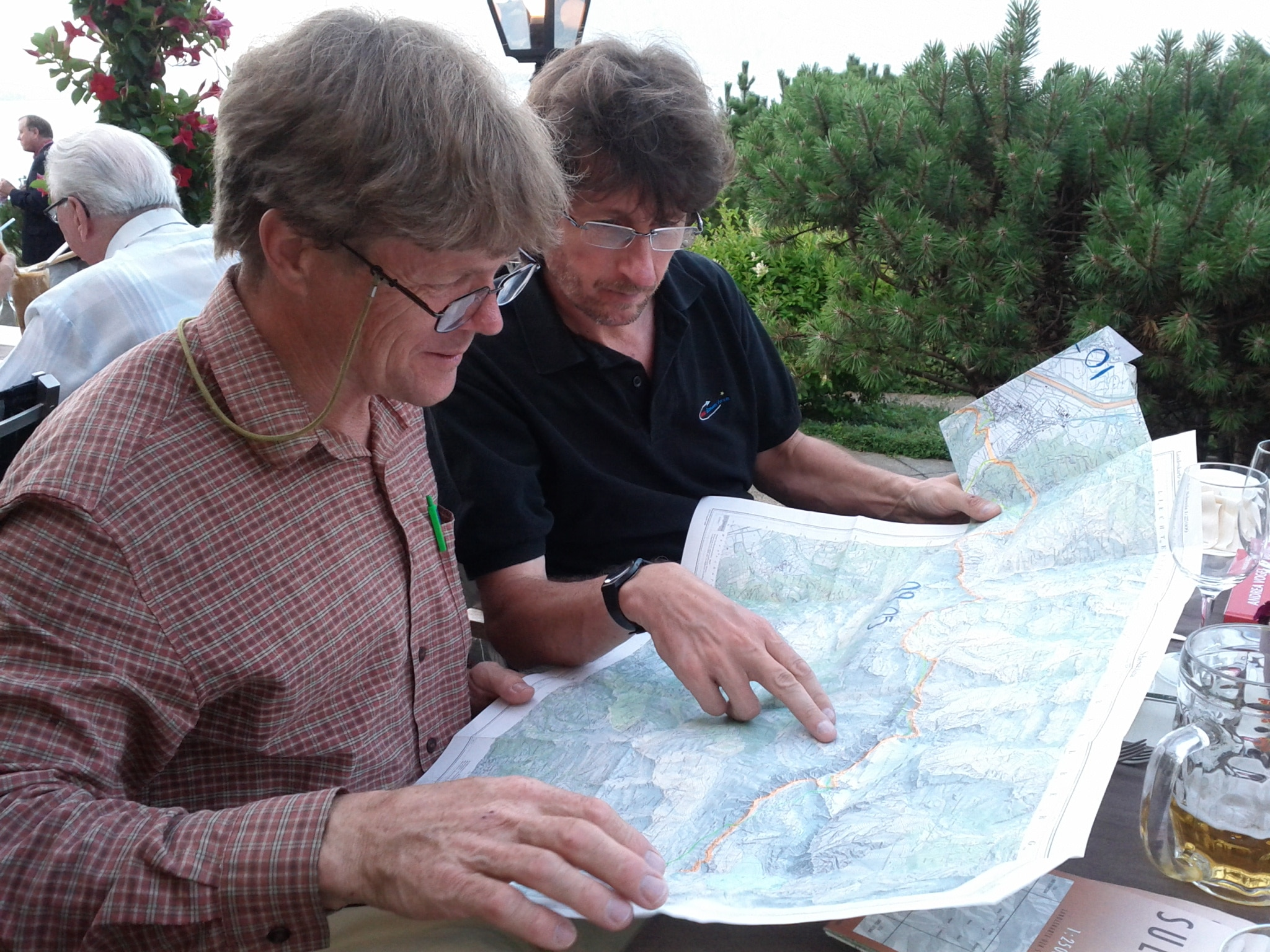 Andrea Vogel shows me the route he took back in 1992.