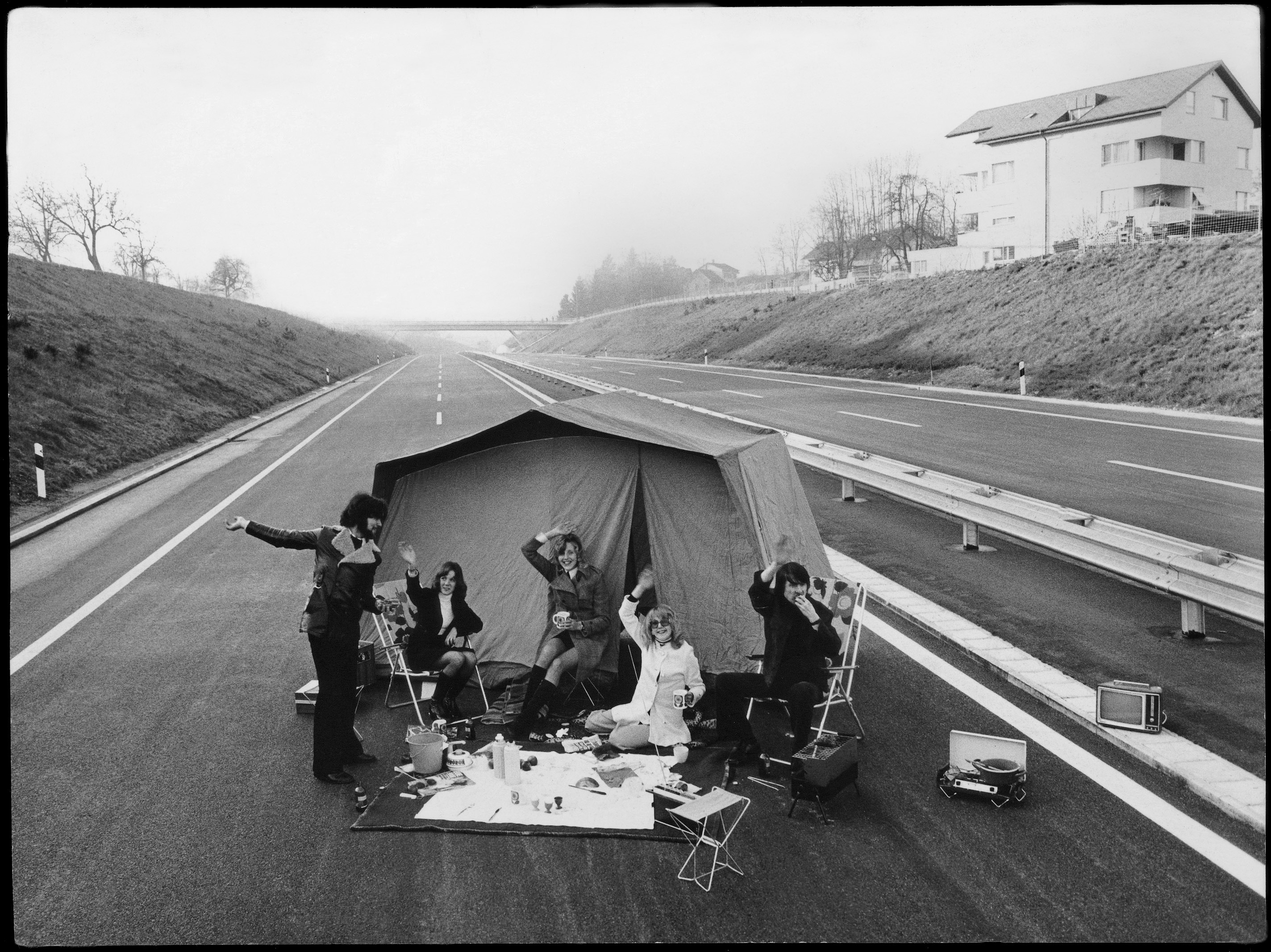 Camping on A1 Highway, 1973