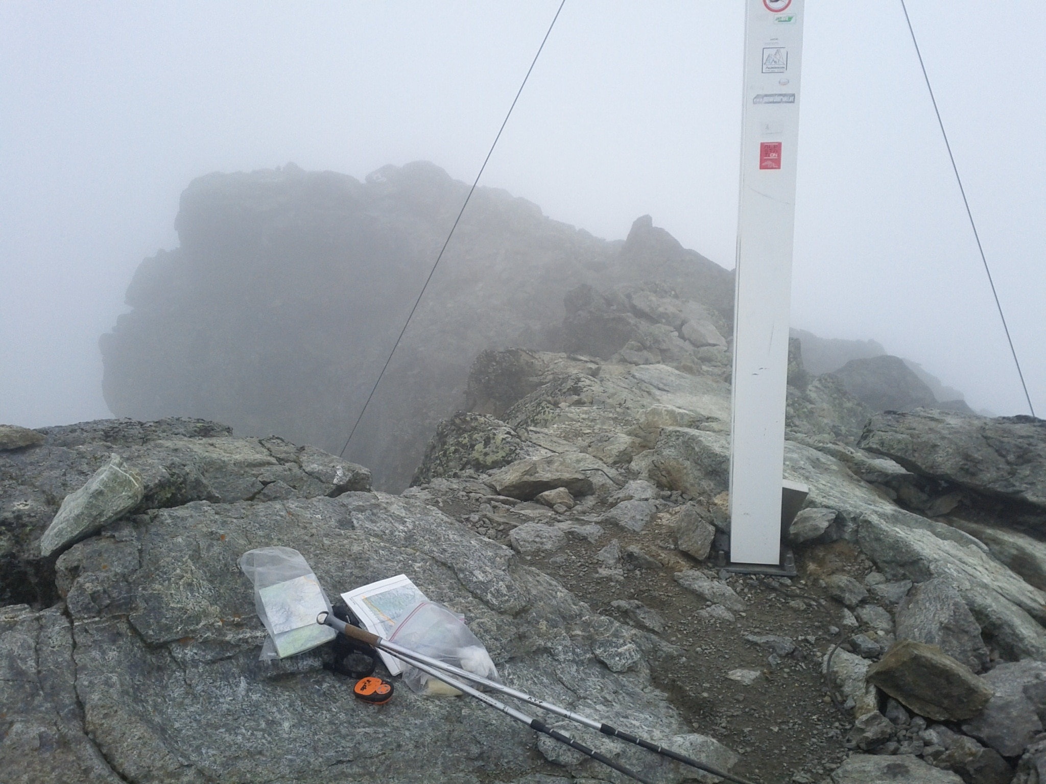 The summit cross of Sesvenna. It's for views like these that we climb mountains!
