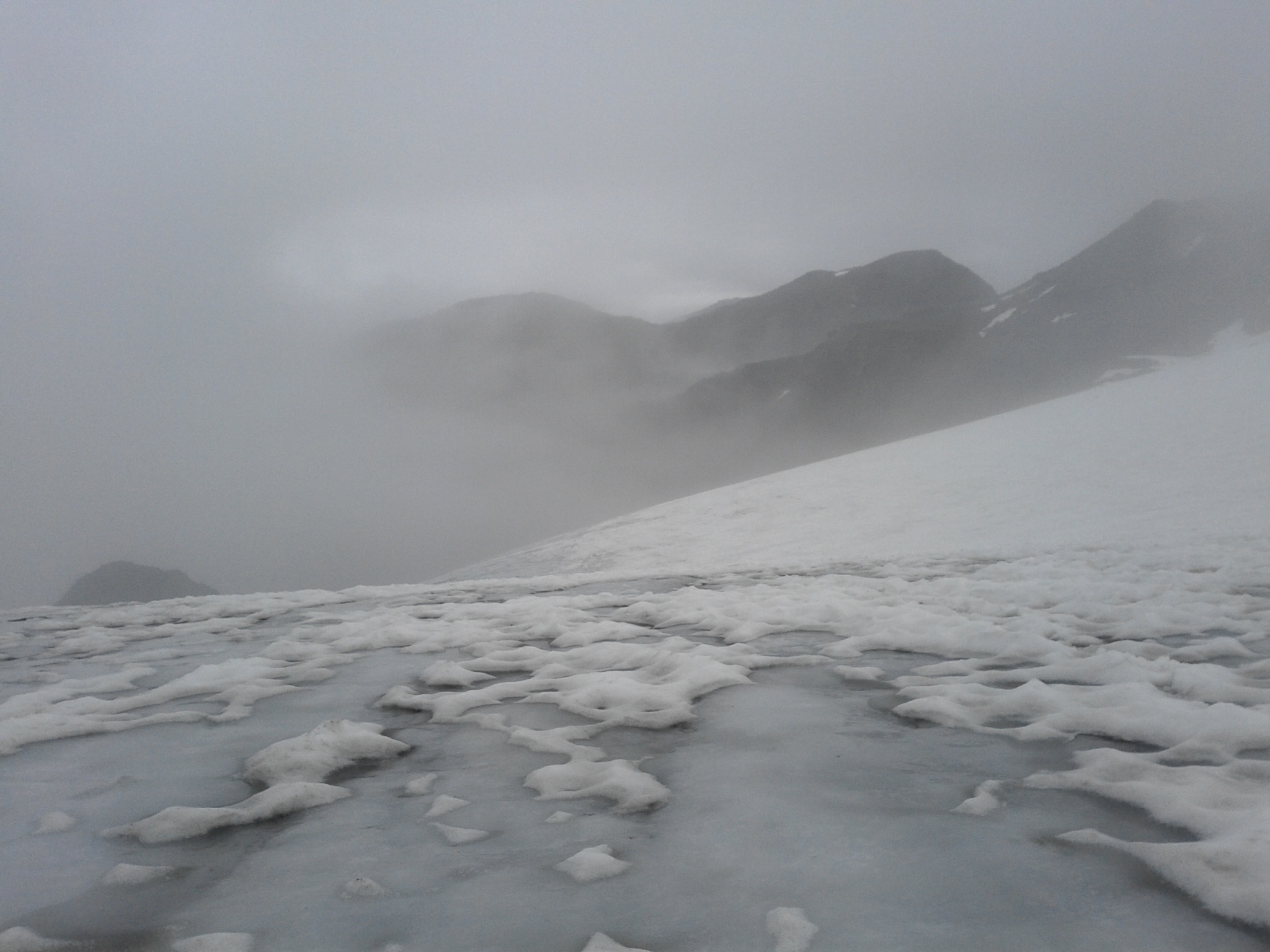The glacier on the north side of Sesvenna.