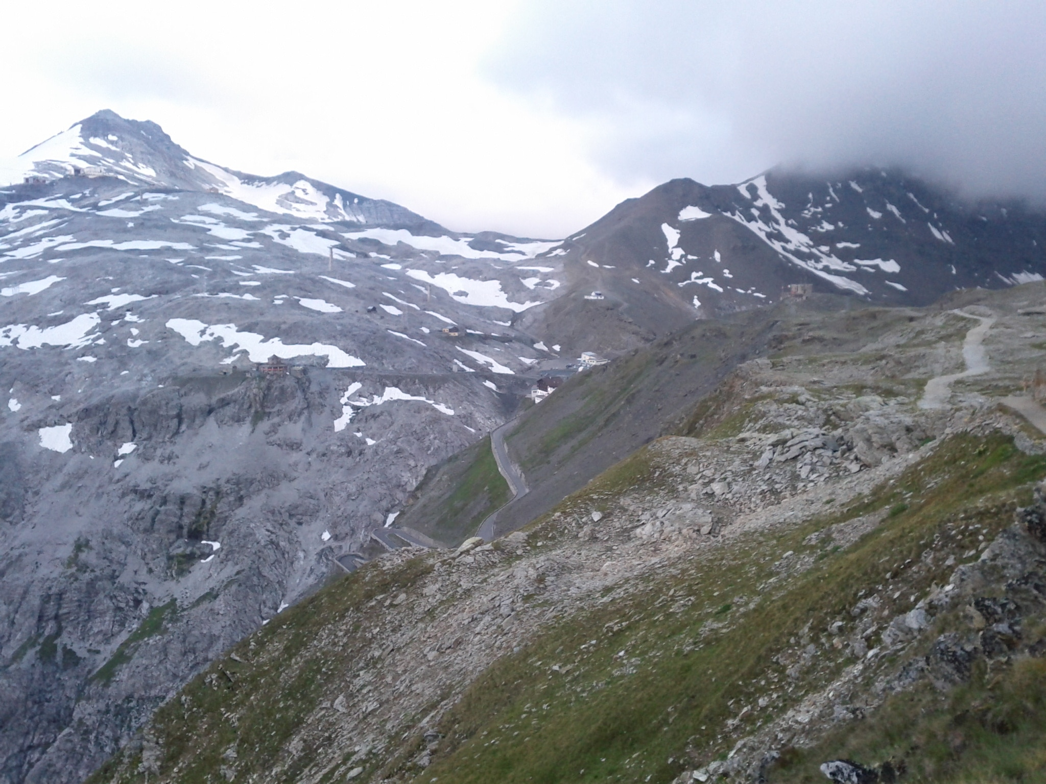 Approachin​g Stelvio Pass, the highest pass road in the Alps