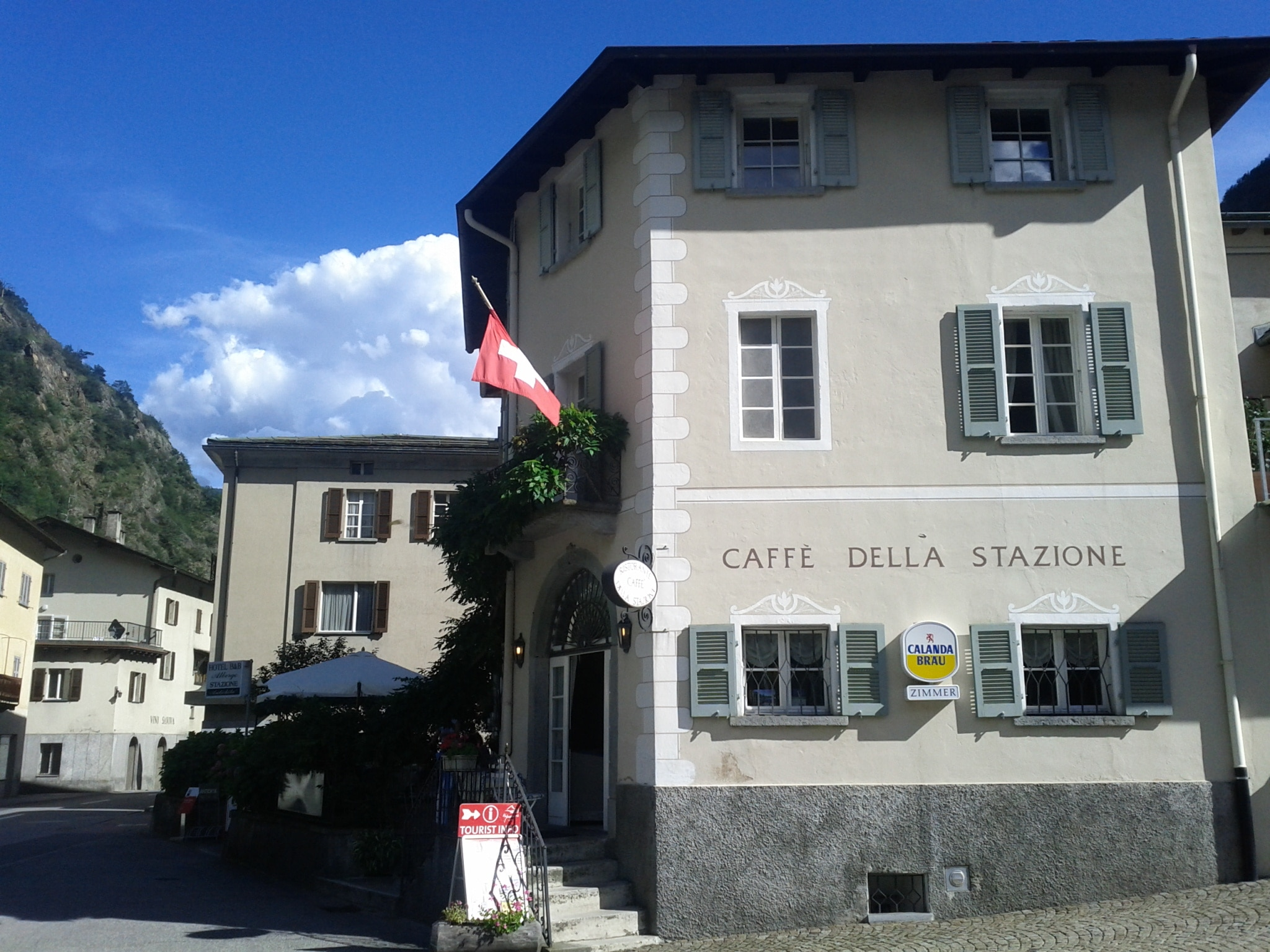 The boutique bed and breakfast hotel, Albergo della Stazione, where I rested before climbing up toward Bernina.