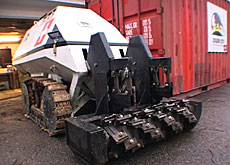 Digger-1 can replace personnel to clear minefields