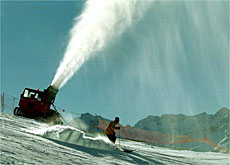 Snow cannon - no self respecting ski resort would be without them