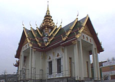 The Buddhist temple in Gretzenbach, which is still under construction