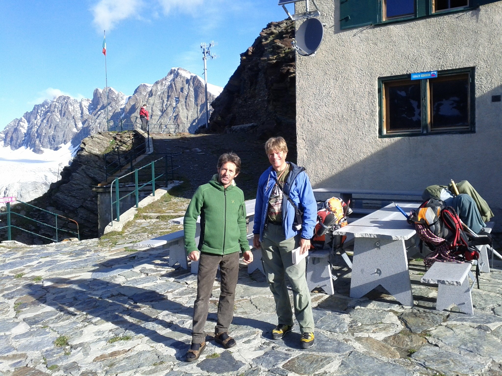 With Giuseppe at the Marinelli hut.