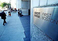 More trouble for Credit Suisse First Boston on Wall Street