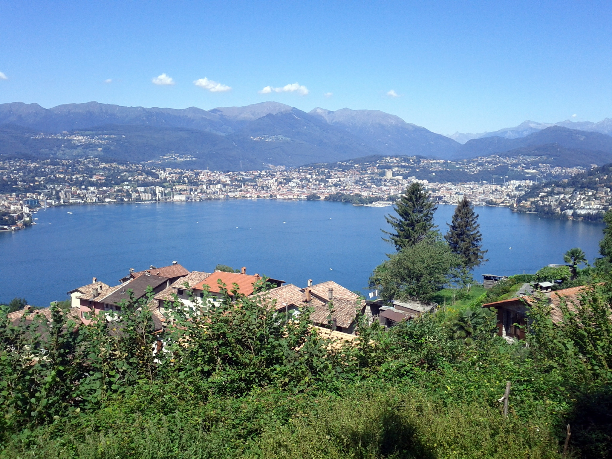 Lugano as seen from the south.