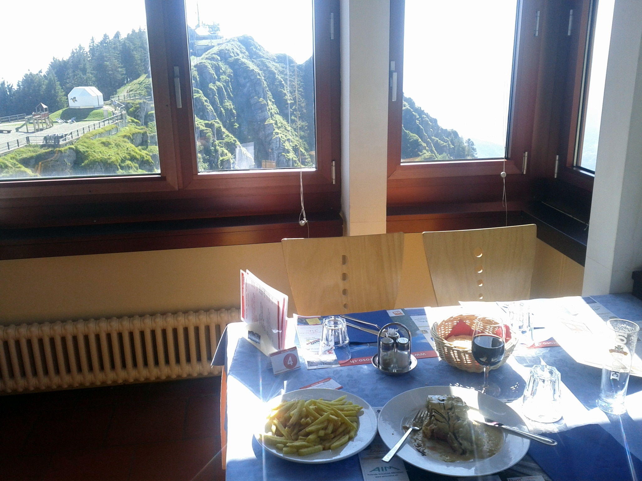 A meal with a view. Corner table in Generoso's La Vetta restaurant​.