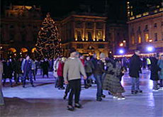 The ice rink at Somerset House in London