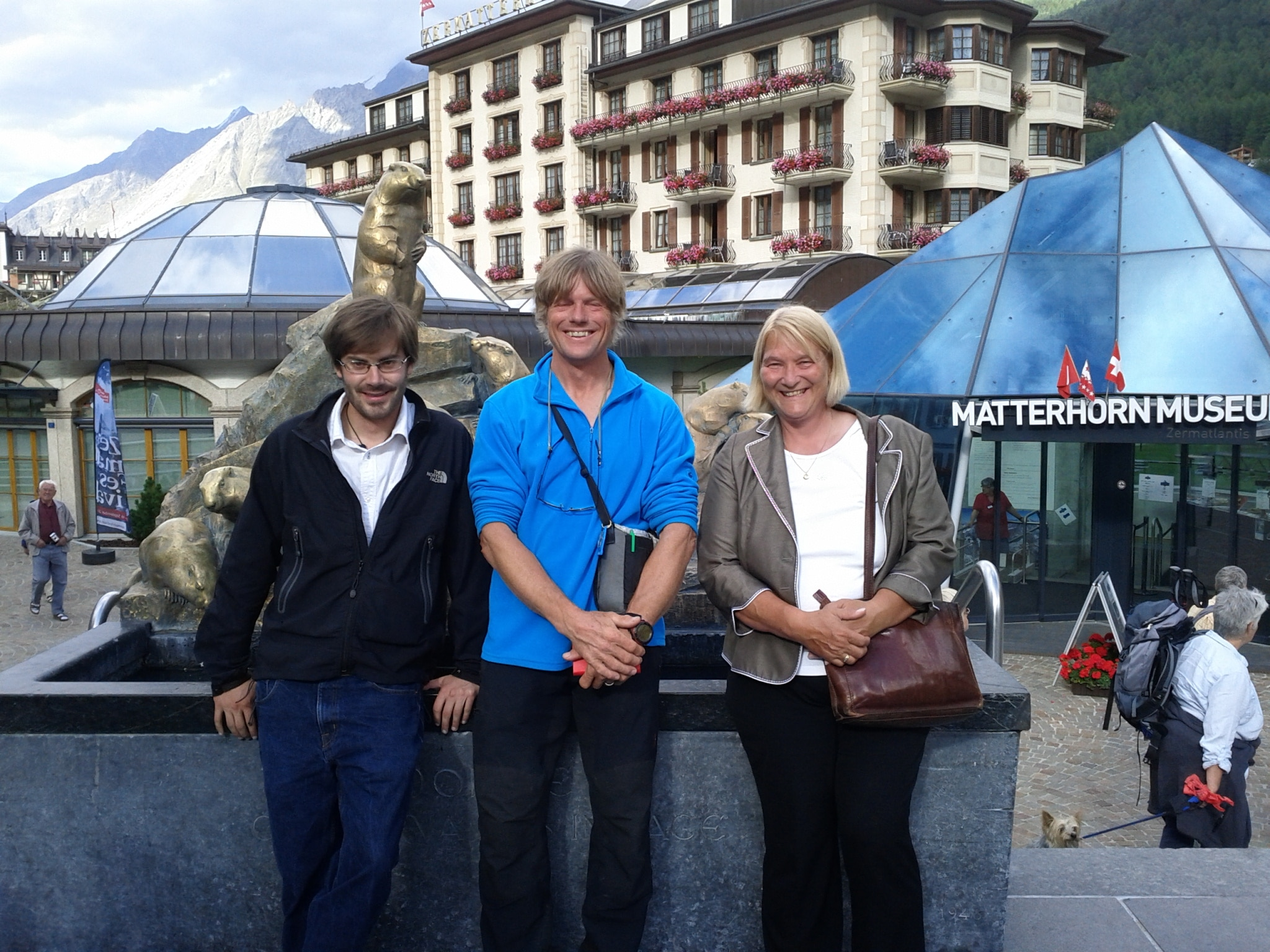 My tour guides through history, Nils Eggen and Edith Zweifel.