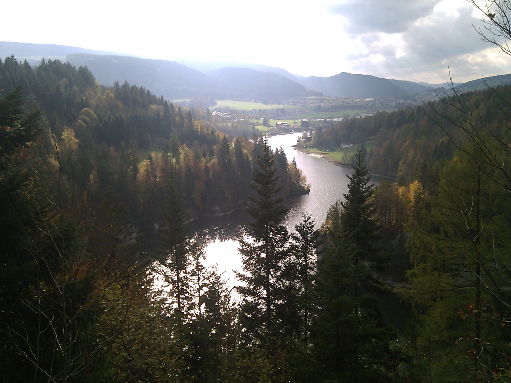 "October 23, 2010: ""I was told that the Jura would be all pine and fir forest without colorful fall foliage. But the Doubs at least has proven otherwise."""