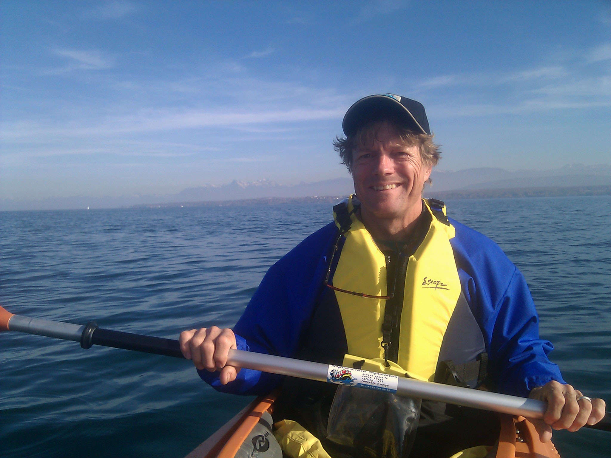 """29 de outubro de 2010: """"O primeiro dia no lago de Genebra."""""""