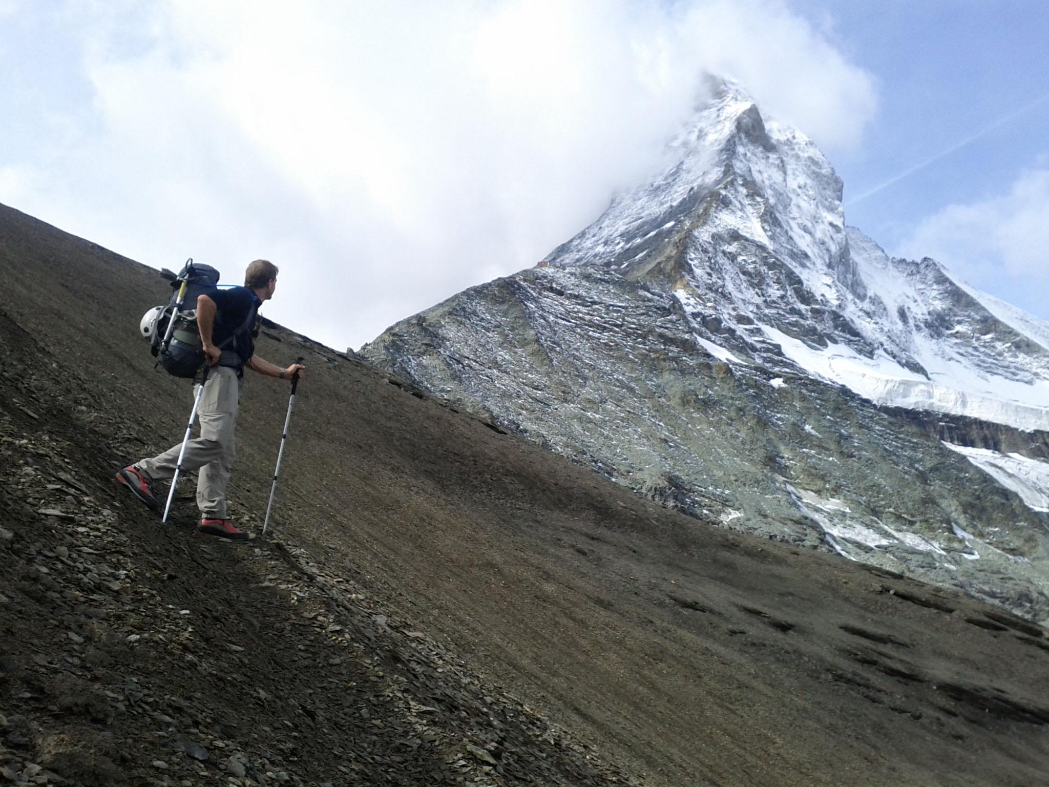"""1 de setembro de 2011: """"Vista do Matterhorn de baixo, a montanha que gostaríamos hoje de ter escalado."""""""