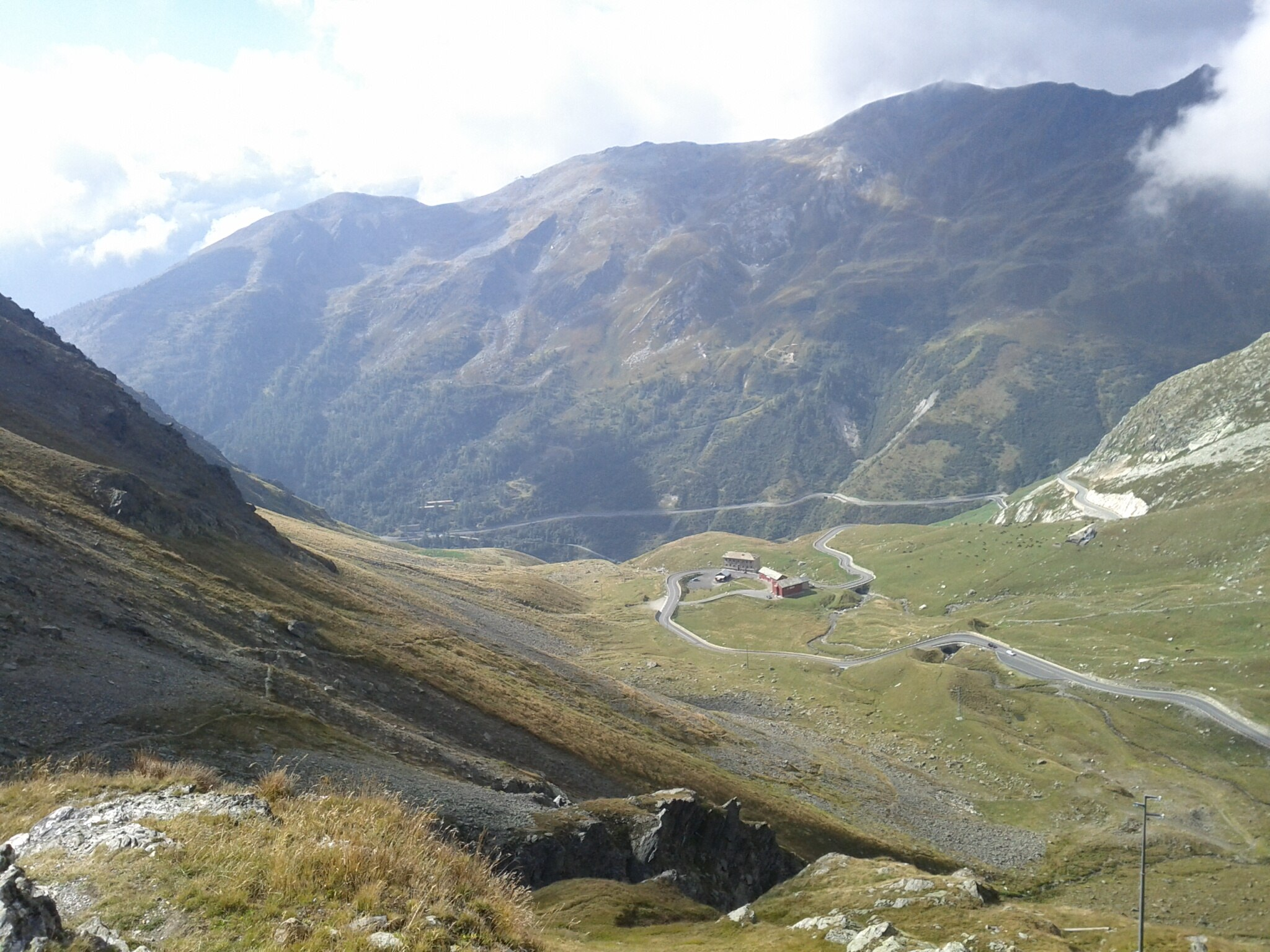 Here's a view of the Italian side of the road to the St Bernard Pass.