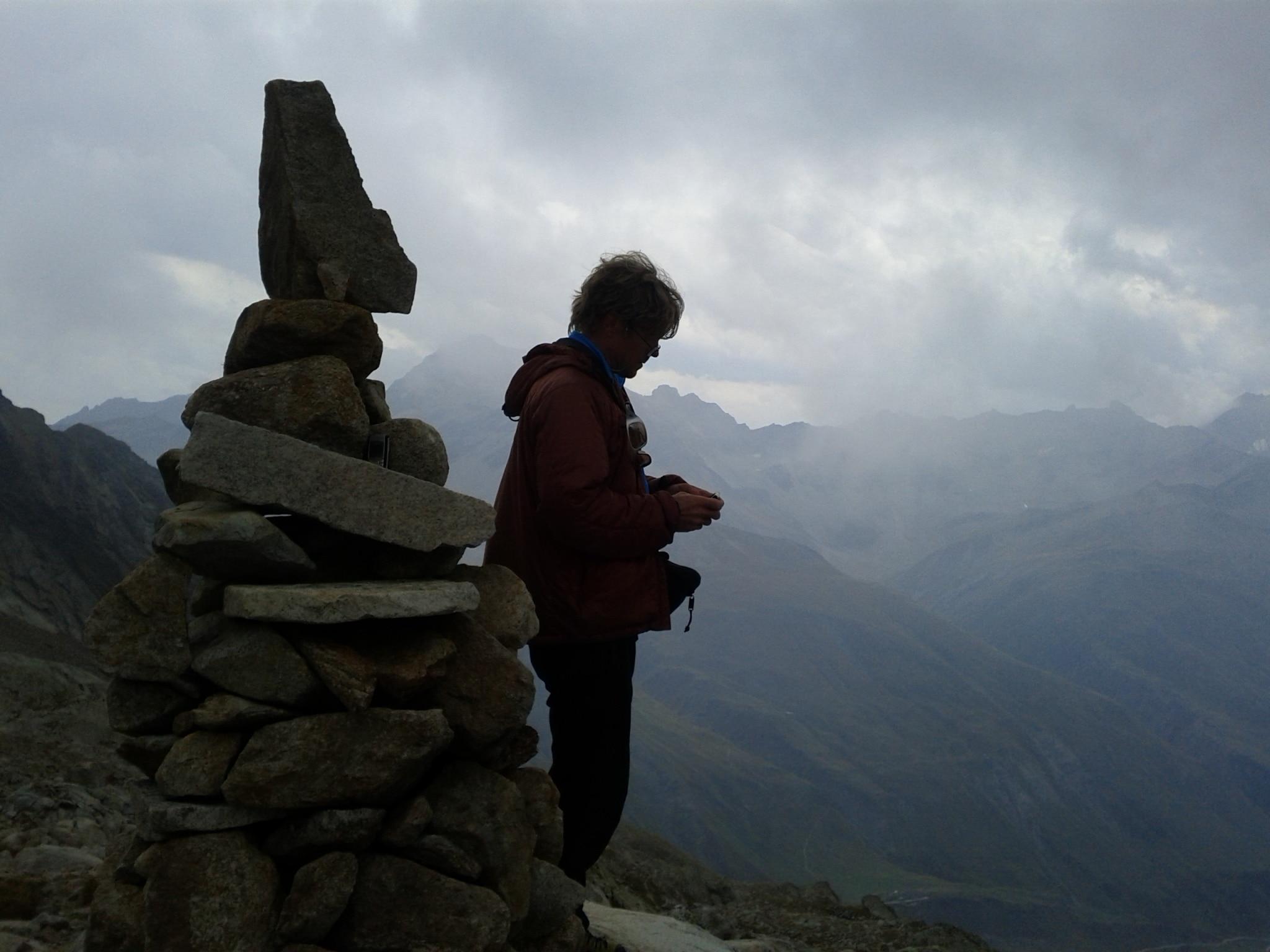 """11 de setembro de 2011: """"Foto-lembrança da cabana'Fiorio alpine' na trilha do Mont Dolent."""""""