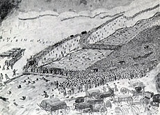 Thousands were killed as Napoleon's army attempted to cross the Berezina (www.ddg.com)