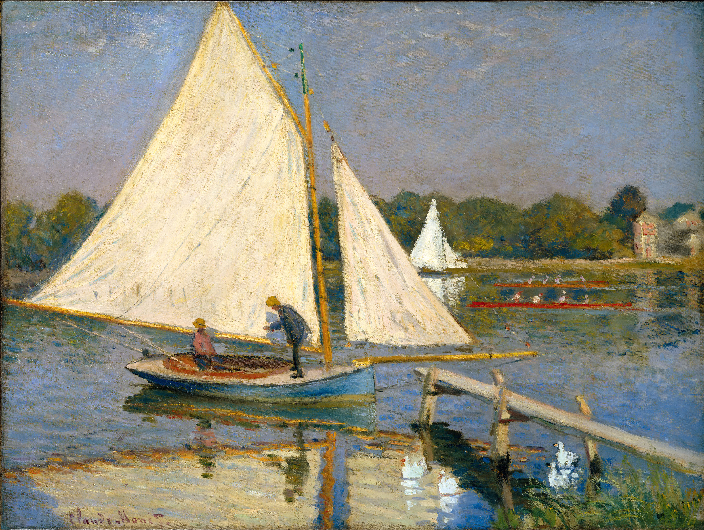 "Claude Monet, ""Pescadores en Argenteuil"", 1874, óleo sobre tela   (The Nahmad Collection)"