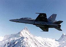 The Swiss air force will be keeping a wary eye over proceedings in neighbouring France