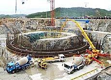 One of two reactors currently under contruction in North Korea.