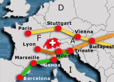 East-west routes are set to bypass Switzerland