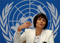 Micheline Calmy-Rey said the UN's authority had been undermined.