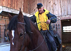 Switzerland's only mounted postman sets out on his rounds
