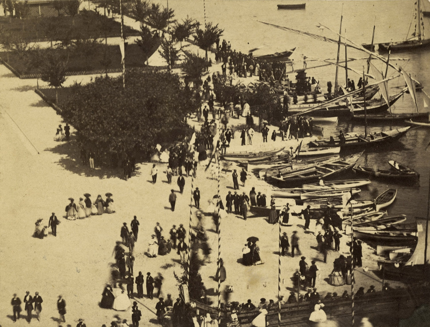 Lausanne, Ouchy, celebrating navigation  July 1863