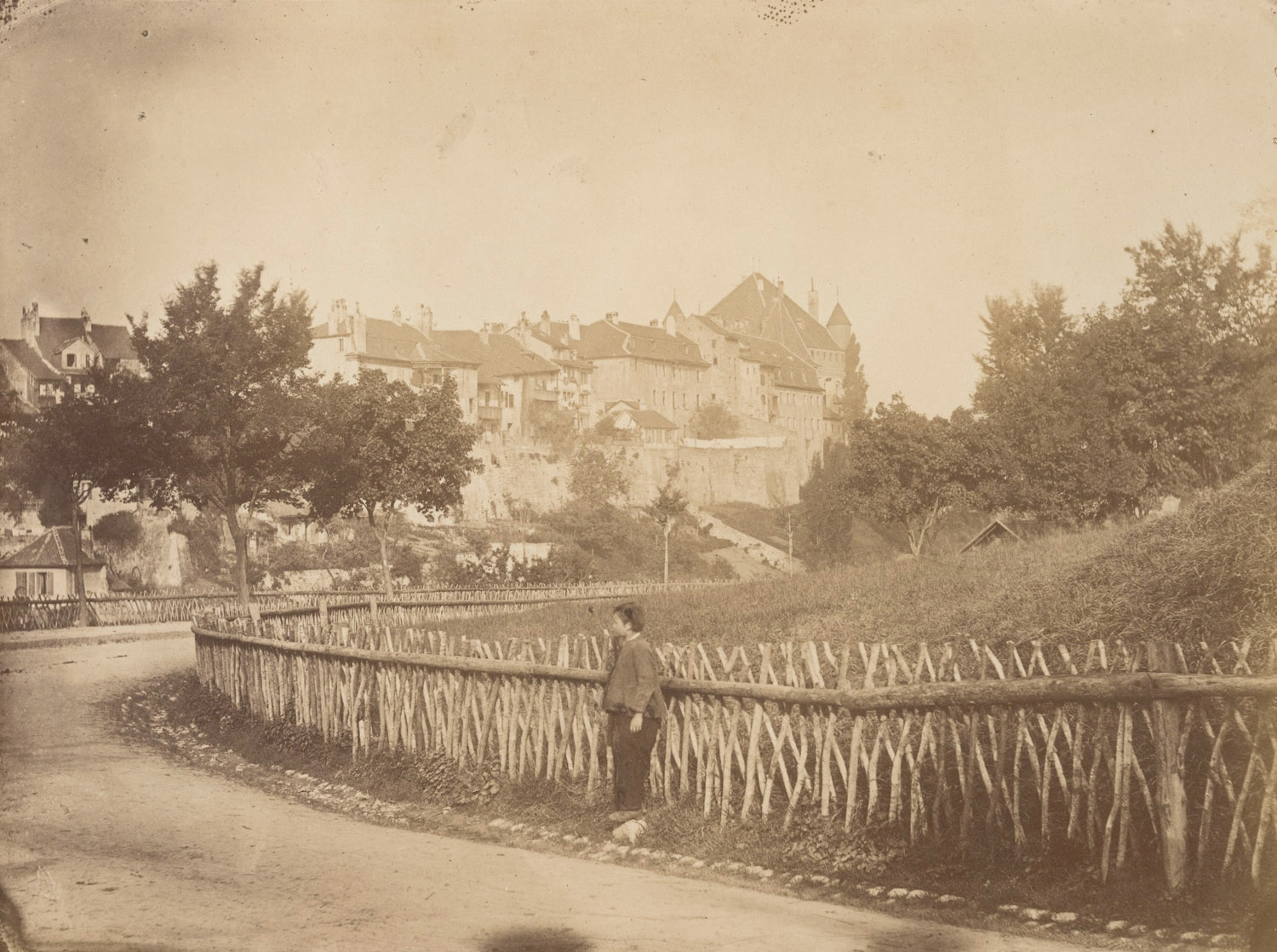 Lausanne, the city from rue César-Roux  1868