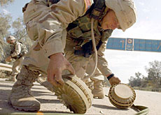 Experts believe it could take some time to demine Iraq