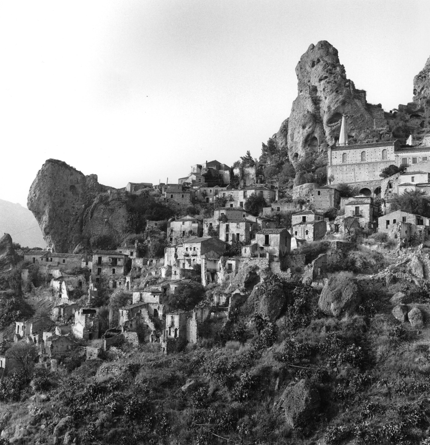 Pentedattilo, a village on the cliffs of Monte Calvario.