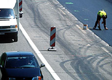 Traffic often slows to a snail's pace on Switzerland's high-speed motorways