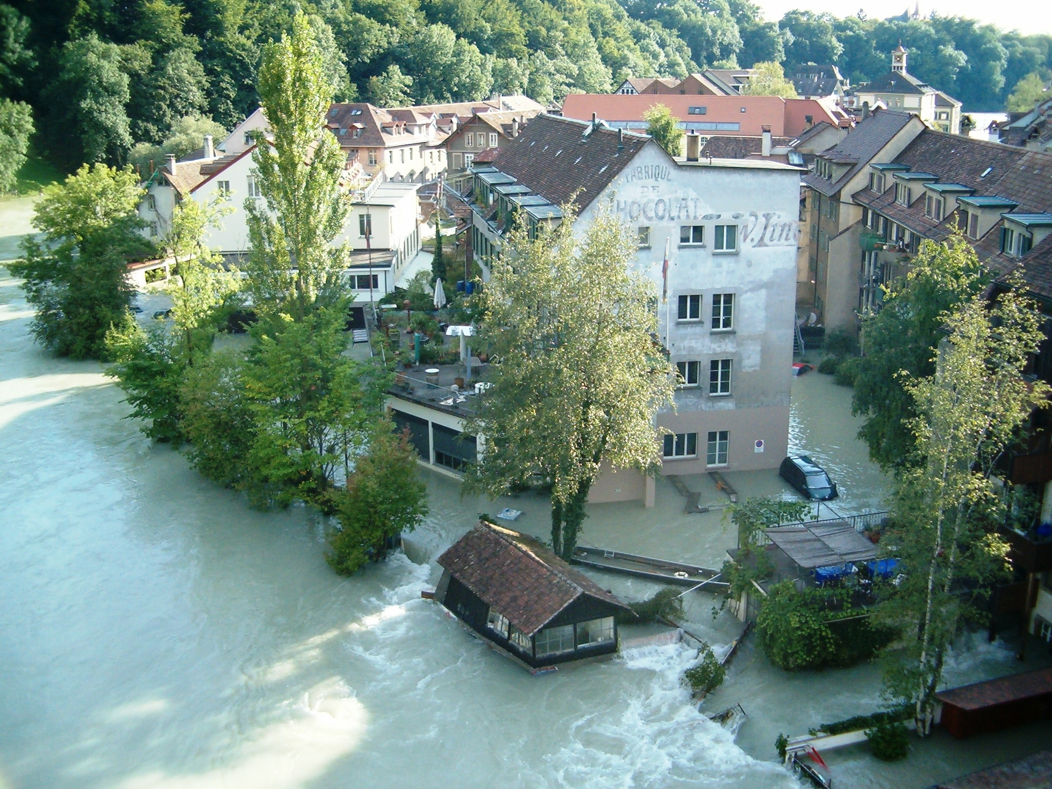 The Matte neighbourhood in Bern is often flooded when the Aare River bursts its banks.