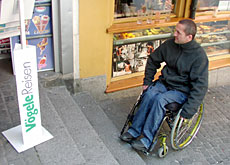Shopping in the city can be a problem for those in wheelchairs