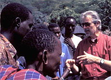 Hans Herren (right) has saved millions of lives in Africa with natural pest control