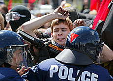 The Geneva authorities fear anti-G8 demonstrations will lead to clashes with police