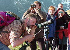 Watch that birdie - students on an ornithological tour