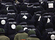 German police will help keep the peace during the anti-globalisation protest on June 1.