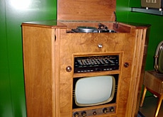 A combined television, wireless and gramophone set was new technology in 1953