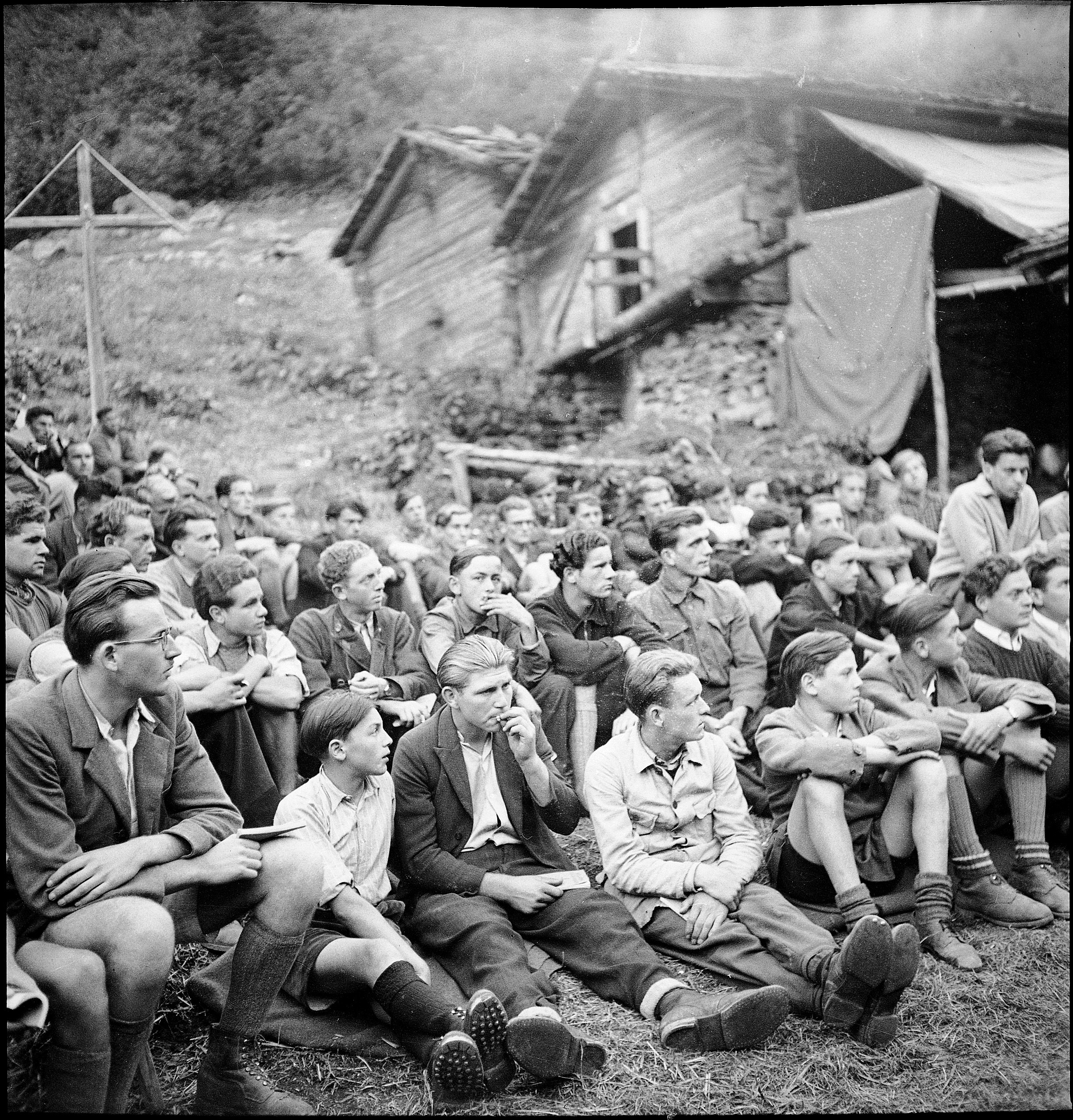 Another camp for young Swiss expats, this one in the Turtmann Valley, 1944.